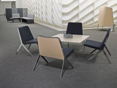 In the context of the contract and hospitality markets, individual chair programs are often designed to work in harmony with other furniture while also maintaining their distinct character.