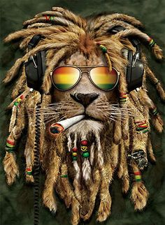 Rasta Pothead Lion Framed Lenticular Picture- Unbelievable Life Like Art Pictures, Lenticular Posters, Cool Art Deco, Unique Wall Art Decor, With Dozens to Choose From! Art Rasta, Rasta Lion, Bob Marley Kunst, Bob Marley Art, Rasta Tattoo, Reggae Art, Reggae Music, Bel Art, Dope Wallpapers