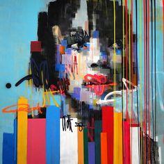 Paramoura814 by Kilmany-Jo Liversage. Acrylic and spray paint on canvas. 200cm X 200cm.