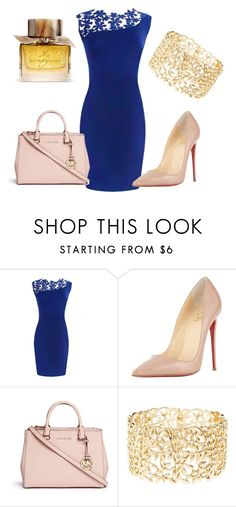 """""""Untitled #10"""" by azraa-tursunovic ❤ liked on Polyvore featuring Christian Louboutin, Michael Kors, Charlotte Russe, Burberry, women's clothing, women's fashion, women, female, woman and misses"""