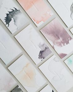 watercolor business cards / @satsukishibuya x @presshausla