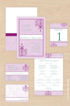 Adora – Whisper #weddinginvitation #purple