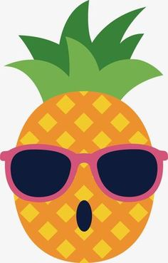 Vector glasses of pineapple Vector and PNG Aloha Party, Luau Party, Flamingo Party, Flamingo Birthday, Cute Cartoon Drawings, Cartoon Pics, Hawaian Party, Fruit Party, Star Wars Party