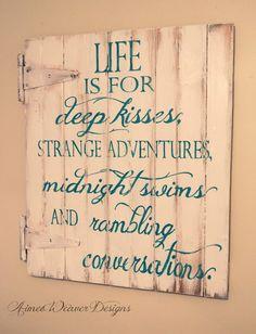 """Life"" wood sign"