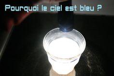 Ciel bleu, une expérience avec un peu de lait pour expliquer la couleur du ciel #apprendreensamusant