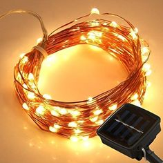 LEDMO Solar LED String Light, 100 LEDs String Lights Waterproof Copper Wire Lights Outdoor Solar Powered For Christmas Wedding and Party, Warm White *** Sensational bargains just a click away : Christmas Home Decor Solar Led String Lights, Starry String Lights, Christmas Wedding, Christmas Home, Cute Small Houses, Indoor Christmas Lights, Copper Wire Lights, Solar Power, Outdoor Lighting