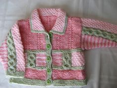 Intarsia baby sweater, front by Knitting In Public, via Flickr