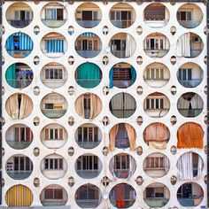 """""""© Serge Najjar @serjios This picture was shot in Beirut. I call it """"Urban Theatre"""" because each circular opening seems to have its own story. It…"""""""