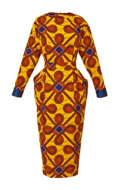 Love the structured look! Printed Cotton Dress by Stella Jean - Moda Operandi African Inspired Fashion, African Print Fashion, Africa Fashion, Fashion Prints, Fashion Design, African Print Dresses, African Fashion Dresses, African Dress, African Prints