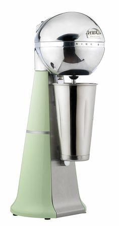 A-2001 Retro Light green ARTEMIS DRINK MIXER with inox cup. #lightgreen