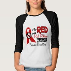 Go Red For Red Ribbon Week Shirts T-Shirt, Hoodie