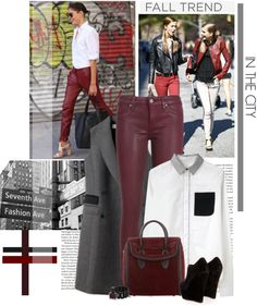 """""""Fall trend: Oxblood"""" by minnie-me ❤ liked on Polyvore"""