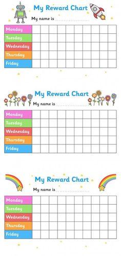 Printable Reward Chart For Teachers | Kiddo Shelter