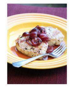 Pork Cutlets with Sweet Bing Cherries
