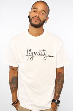 The Chemtrails Tee in White by Fly Society