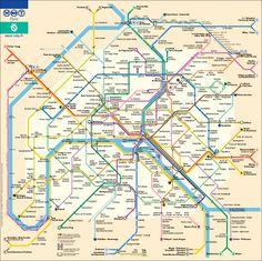 Paris subway map - done!