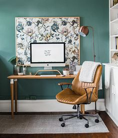 Working from home means dedicating a creative space to get stuff done. Consider these home office decor and work from home ideas when you are growing your direct sales business. office lighting home office ideas office ideas with couch home offices Home Office Design, Home Office Decor, Office Furniture, Office Ideas, Pipe Furniture, Leather Furniture, Ikea Office, Office Setup, Office Organization