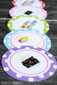 Love these! Free Printable Birthday Gift Tags