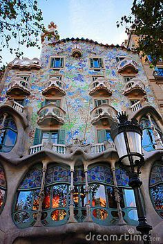 Gaudi Designed Building, Barcelona, Spain. I was here. Gaudi's work is as amazing as it looks.
