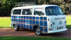 1970 VW Type 2 Early Low Light Bay Camper Van in Cars, Motorcycles & Vehicles, Classic Cars, Volkswagen Car Volkswagen, Vw Cars, Vw T1, T3 Doka, Tartan, Automobile, Vw Camping, Blue Bus, Bus Camper