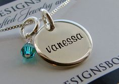 A personal favorite from my Etsy shop https://www.etsy.com/listing/230632153/personalized-jewelry-mothers-necklace