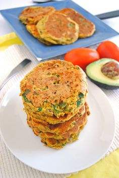These protein-packed chickpea flour pancakes with vegetables and avocado sauce will keep you feeling satisfied for hours. Enjoy them for any meal!