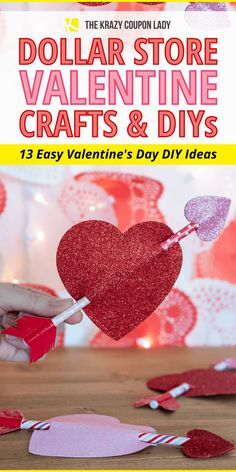 If you're looking for easy DIY Valentine's Day cards or DIY Valentine crafts for kids (& adults!), these dollar store DIY projects and free Valentine's Day printables are perfect for you! There's something special about cute Valentine's Day decor, gifts, and cards that everyone loves, especially when they're made with dollar store supplies! These Dollar Tree DIYs are perfect for Valentine's Day for kids, parents, siblings, or classmates. #dollarstorediy Homemade Valentines Day Cards, Valentine Gifts For Kids, Valentine Day Cards, Valentine Crafts, Easy Diy Valentine's Day Cards, Valentine's Day Diy, Do It Yourself Organization, Valentine's Day Printables, Homemade Crafts