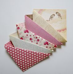 The Lavender Shoppe. Shabby Chic Origami Corner Bookmarks (Assorted 5-Pack). See at thelavendershoppe.etsy.com.