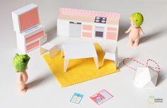 DIY : une maison de poupée en papier – la cuisine à imprimer