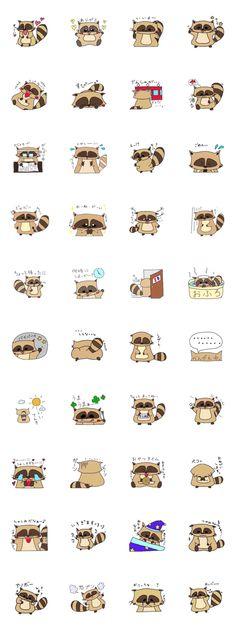 Stickers animal raton laveur