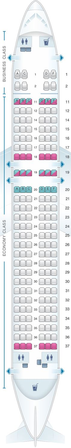 Seat Map Kingfisher Airlines Airbus A320 200 164PAX(B)