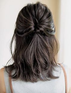 Pinspiratie: zo maak jij je halflange coupe fresh & fruity - Jani - Lilly is Love Unique Hairstyles, Pretty Hairstyles, Braided Hairstyles, Hairstyle Ideas, Bangs Hairstyle, Mid Length Hairstyles, Everyday Hairstyles, Asian Hairstyles, Formal Hairstyles