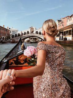 Venice Gondola Ride and Serenade Gondola Venice, Venice Italy, Venice Photography, Italy Pictures, Venice Travel, Italy Fashion, Beaded Gown, Mermaid Skirt, Dress Out