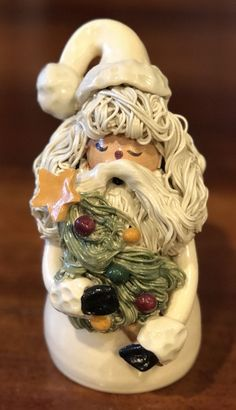 Rare NC Piney Woods Pottery Spagghetti Santa Christmas 2001 Collection JGM #413  #WHIMSICAL