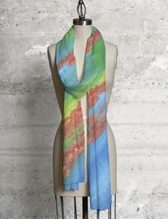 Sgrafitto Scarf beautiful and colorful - only $40!