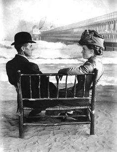 Couple at Long Beach Pike, 1908