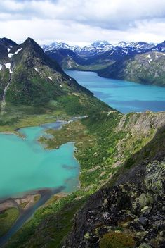 Holding over 250 mountain peaks Jotunheimen National Park in Norway has a very fitting name: it is inspired by Norse mythology and means The home of the Lillehammer, Oslo, Jotunheimen National Park, Bergen, Beautiful Norway, Beautiful Sky, Scandinavian Countries, Ultimate Travel, Alaska
