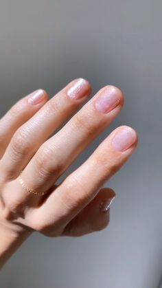 new essie shade 'birthday girl' from the moments collection on betina goldstein. this shimmering, iridescent sheer pink is the perfect pretty present for any birthday girl. Minimalist Nails, How To Do Nails, My Nails, Star Nails, Subtle Nails, Nagellack Trends, Birthday Nails, Girl Birthday, Nail Designs Spring