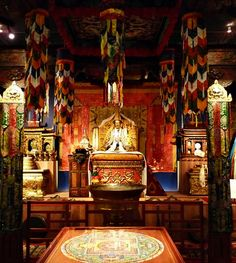 Tibetan Buddhist Temple. Who wouldnt want to meditate here.