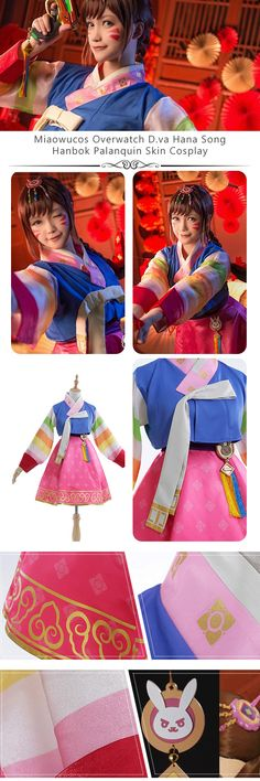 More about Overwatch D.va Hana Song Hanbok Palanquin Skin Cosplay Costume Dress made by Miaowucos and sells at Miccostumes #cosplay #miccostumes #Overwatch #Dva #HanaSong #overwatchcosplay #dvacosplay