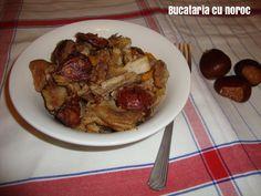Mancare cu castane si carne - Bucataria cu noroc Noroc, Meat, Chicken, Cubs