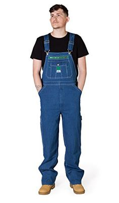 45e1a2bb54 Liberty Stonewashed Denim Work Dungarees Mens Dungarees Bib Overall Big and  Tall LIBSW: Amazon.co.uk: Clothing