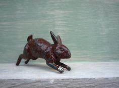 Miniature Lead Hare or Rabbit Tiny Vintage Lead by APureVintage