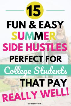Are you a college student trapped for cash during your summer break? These 15 fun and easy summer side hustles pay really well! #collegestudentssidehustles #payoffdebtsidehustles #makeextramoneycollege Make Quick Money, Make Money From Home, Earn Extra Income, Extra Money, Paying Off Student Loans, Making Extra Cash, Blog Topics, Work From Home Jobs, Online Jobs