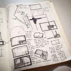 Superb Sketches From The Archive. #design #architecture #sketches #sketchbook # Journal #