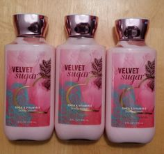 BATH & BODY WORKS - VELVET SUGAR BODY LOTION x3 - 8 OZ. in Health & Beauty, Bath & Body, Body Lotions & Moisturizers | eBay