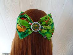 TMNT hair bow girls hair bow turtle hair by LeahAshleeyDesigns