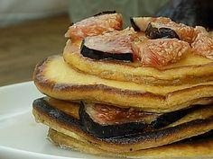 Pancakes con miel y brevas