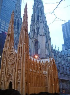 Toothpick Cathedral Sculpture - by Stan Munro of www.toothpickworld.com