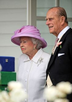 Queen Elizabeth and Prince Phillip at Ascot.